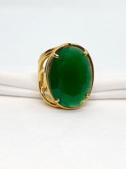 Anel Athena Cristal Jade Verde