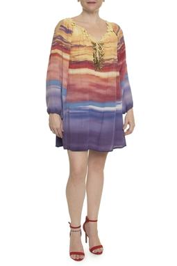 Vestido Curto Bata ML Tie Dye - DG14893