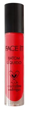 Batom líquido matte vegano Sex Time  vermelho tomate – 5ml