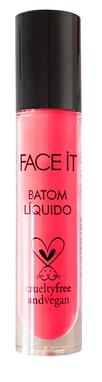 Batom líquido matte vegano Sexy Face hot pink – 5ml