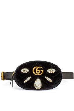 Pochete GG Marmont Small Quilted Velvet Belt Bag