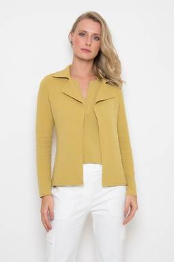 Blazer Malha Creponada Amarelo