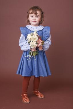 Blusa Alice Azul Bebê