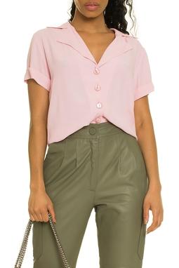 Blusa Clori Rosa Camisa Manga Curta - DG17410