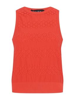Blusa Cropped Tricot Ponto Antúrio Vermelha USTYLE