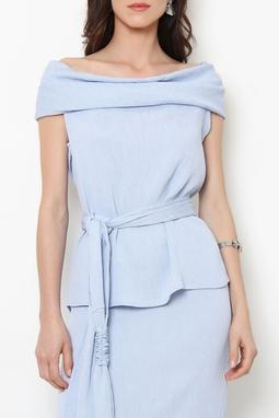 Blusa Gola Crepon Azul