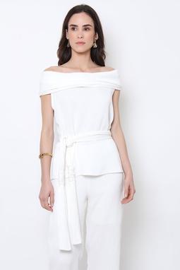 Blusa Gola Crepon Branca