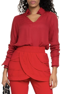 Blusa Gola Matelassê Vermelha - DG15175