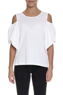 Blusa Off White Com Babados - DG15444