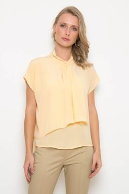 Blusa Sobreposicao Cupro Amarela