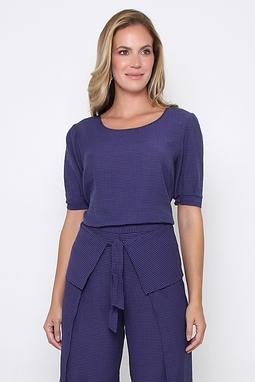 Blusa Stripe Paper Azul