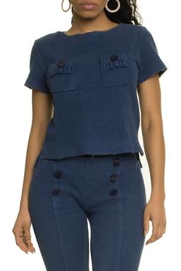 Blusa Tweed Azul - DG17393