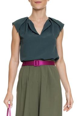 Blusa Verde Detalhe Ombro - DG15174