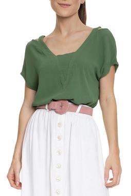Blusa Verde Recortes - DG15342