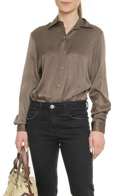 Body Camisa Marrom - DG17937