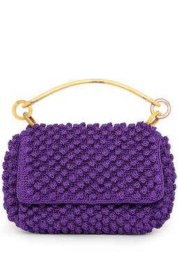 Bolsa Crochet Roxa - DG17870