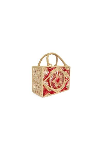 Bolsa Palha Estruturada Vermelha Sensi Studio