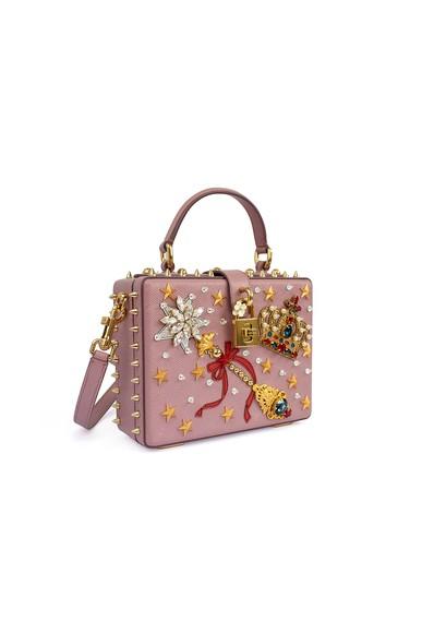 Bolsa Magic Wand Bag Cravejada Rose Dolce & Gabbana