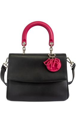 Bolsa Be Dior Flap Bag Black Pink - DG15542