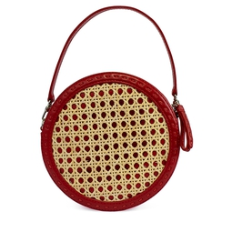 Bolsa Red Tambourine Rattan Cross Body