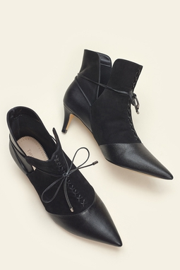 Bota Lace Up Preto