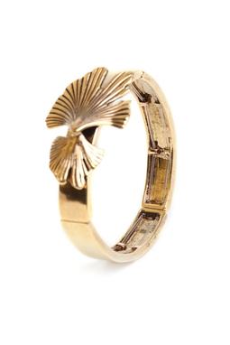 Bracelete Folhas Dourado