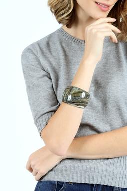 Bracelete Resina Italiano Verde