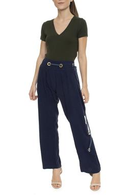 Calça Azul Marinho Corda - DG15742