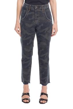 Calca Boyfirend Jeans Estampado - ANM04160201