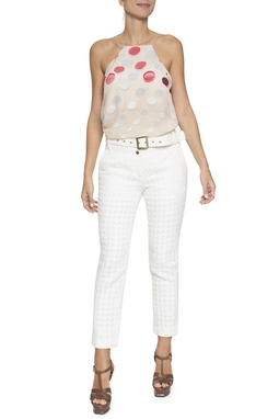 Calça Branca Cinto - DG16356