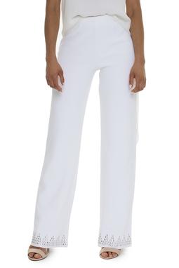 Calça Branca Crepe De Seda - DG15924