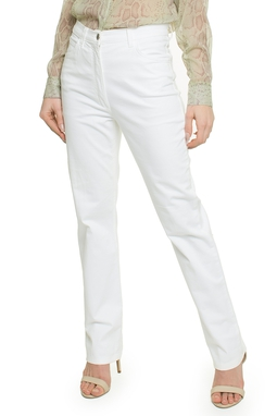 Calça Branca Sarja Reta - DG15695