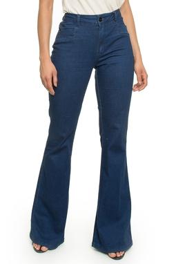 Calça Flare Jeans Escuro - DG17994