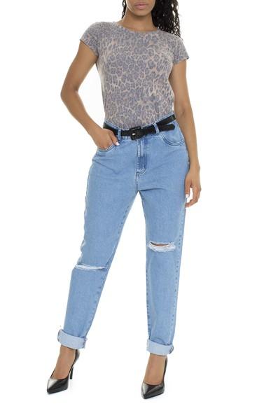 Calça Jeans Cintura Alta Rasgos - DG15758 Mundo Lolita