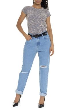 Calça Jeans Cintura Alta Rasgos - DG15758