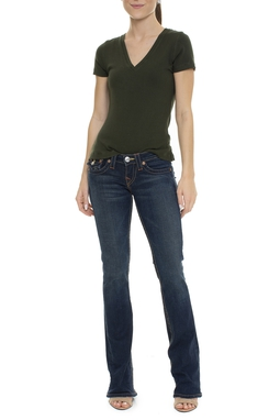 Calça Jeans Escura Flare - DG15806