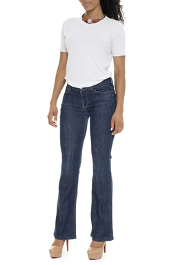 Calça Jeans Escura Flare - DG15936