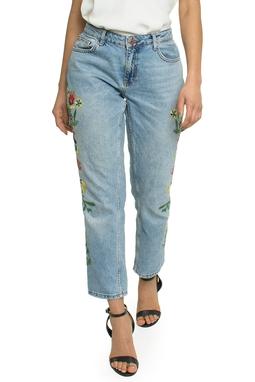 Calça Jeans Flores Bordadas - DG17274