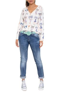 Calça Jeans Reta Ziper Bolso - DG16667