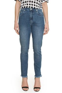 Calca Jeans Rock Skinny Midi Detalhe Bar - ANM04050685