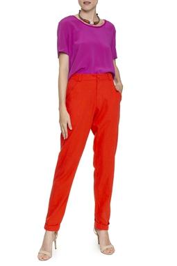 Calça laranja de algodão - DG16445