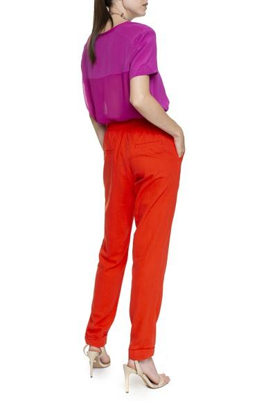 Calça laranja de algodão - DG16445 Animale