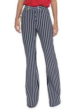 Calça Listras Azul Marinho Branca - DG16261