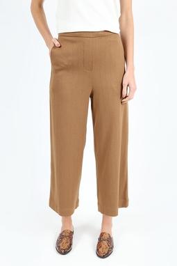 Calça Pantalona Chevron Marrom