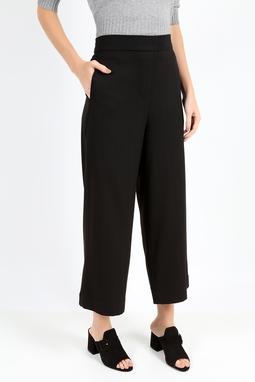 Calça Pantalona Chevron Preta