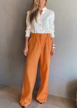 Calça Pantalona Helena Laranja