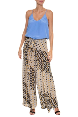 Calça Pantalona Transpassada - DG16658