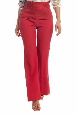 Calça Pantalona Vermelha - DG18346