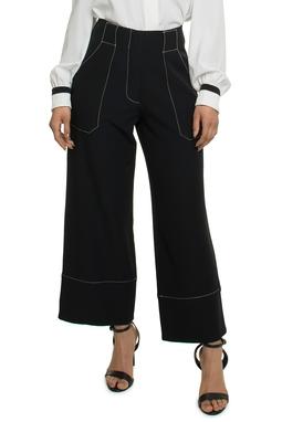 Calça Preta Costura Contraste - DG17882