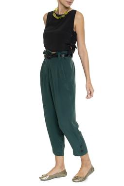 Calça Seda Verde Esmeralda - DG16370